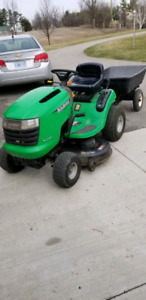 Riding lawn mower and trailer for sale $1100
