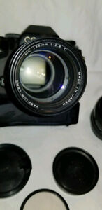 Contax with Carl Zeiss Planar and Yashica lenses
