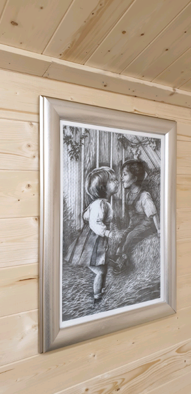 Lovely Large Vintage Children Picture Framed On The Farm Signed In Inverness Highland Gumtree