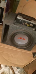 10 inch type R dual 2 ohm coil.  300 rms digi amp