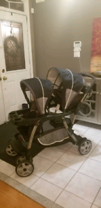 GRACO - Double baby stroller, Almost brand new condition
