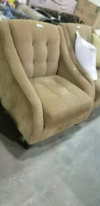 Brown fabric  accent chairs set !show room furniture!SAVE!