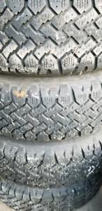 4 Rim 5x100 avec pneu hiver 195-70-14