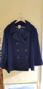 Plus size Pea Coat 3X