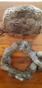 Vintage fur muff and scarf