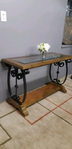 Solid wood hallway/entrance table