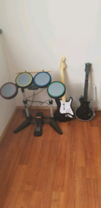 Rock band set with games for ps3