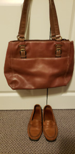 SOFT LEATHER LOAFERS & PURSE TO MATCH