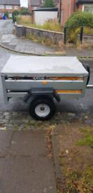 Erde 143 Galvanized tipping trailer
