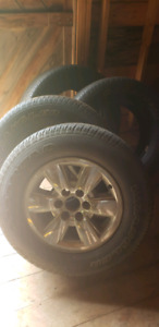 """GMC Sierra 18"""" rims and tires"""
