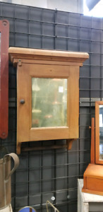 Antique Wall Cabinet Distressed Mirror