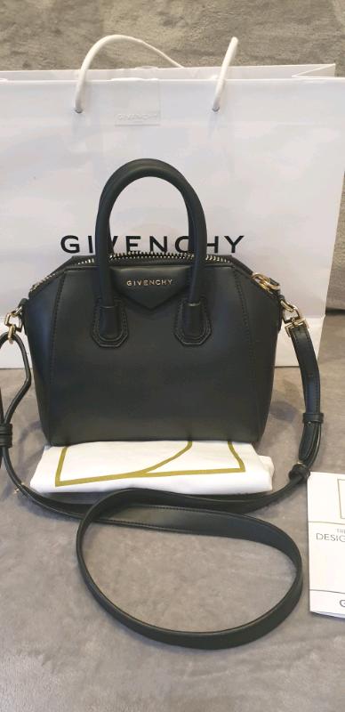 95e7cb3c648 Genuine Givenchy mini antigona matte black leather bag | in ...