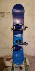 K2 snowboard and boots