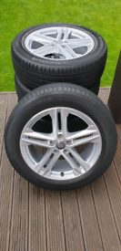 Audi alloy wheels with tyres
