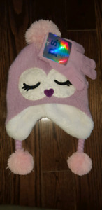 Toddler mitts and hat