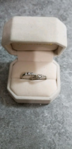 Beautiful trinity diamond ring and promise ring