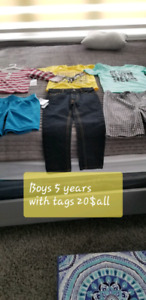 Toddler boy 5 years old clothes new