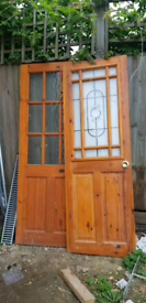 Internal wooden Door with glass.