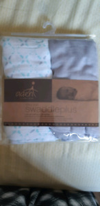 New Aden anais silky soft swaddle blankets. White one washed