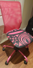 Pink ikea office chair