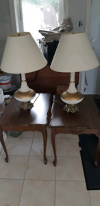 End tables and matching coffee table