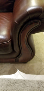 Beautiful leather sofa chairs for sale
