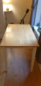 Wooden Dining Table. Oak and White