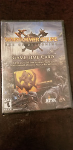 Warhammer online(carte pre-payé/game time card)