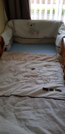 Cot bumper and quilt