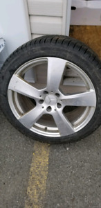 "4 OF ORIGINAL M.BENZ RIMS ON 245 40 18"" MICHELIN WINTER TIRES"