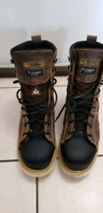 Tmax steel toe boots size 12 almost brand new