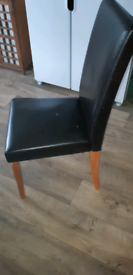 Faux leather chairs (Now Sold)