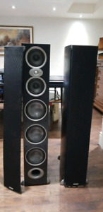 2 Tower Speakers with Preamps, Tuner, and Amplifiers