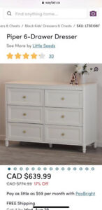 New in box 6 drawer dresser from Wayfair only $350!