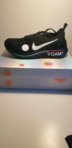 Size 9.5 Nike x Off White Zoom Fly Black