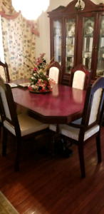 Dining table with Showcase.