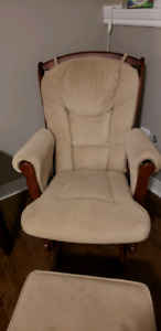 Glider chair and foot rest