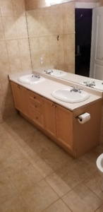 Double Sink Bathroom Vanity with Faucet