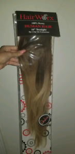 100% Real Natural 8 Pieces Clip In Human Hair Extensions Full