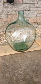 Hand made Antique very large glass carboy dame-jeanne bottle Demijohn