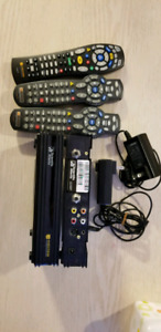 2 Videotron Cable boxes - not HD with 3 remotes