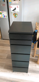 IKEA MALM CHEST OF 6 DRAWERS WITH MIRROR