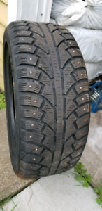 1 studded winter tire