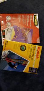 Laminate paper and Kodak picture paper