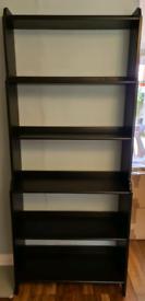 IKEA black-brown shelves