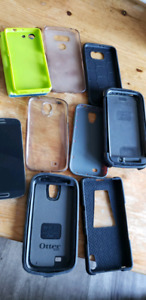 Partially working android phones and cases.