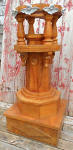 Vintage Church Font Stand
