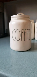 Rae Dunn HTF Early 2018 Extra Large Coffee Canister