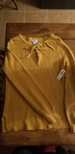 Womens crop top and sweater new