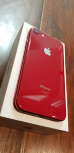 (RED) Iphone 8 with original box and all accessories + Warranty